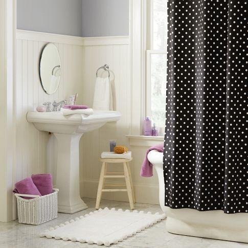 Rideau de douche à pois – L\'Univers de Miss R