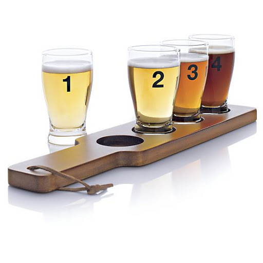 Dégustation de bières, Crate and Barrel