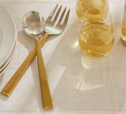 Caroline Serving Set Gold Pottery Barn
