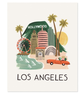 Rifle Paper Co-Los Angeles Print