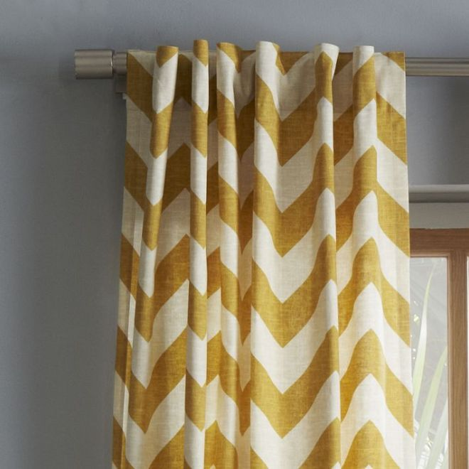 close up zigzag curtain-West Elm